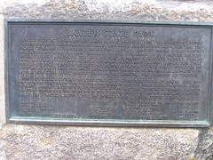 plaque at chimney pond campground
