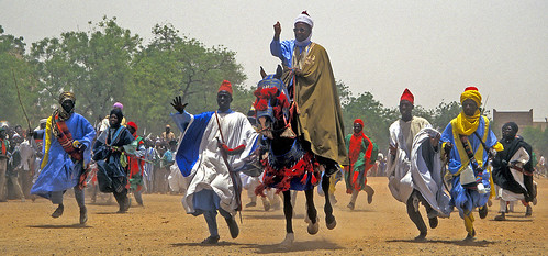 The Katsina charge, the climax of the Durbar Festival.