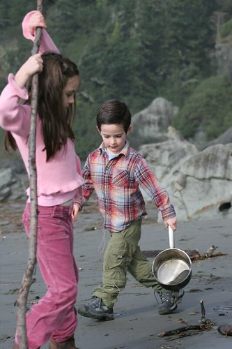 beach, pan, saucepan, stick, play, moonstone IMG_3041