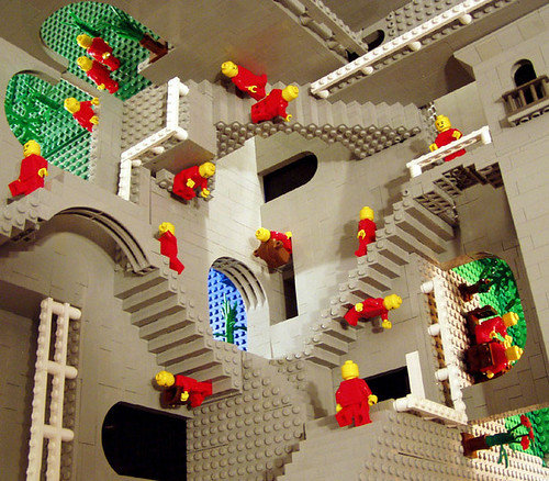 Escher's Relativity in Lego by Andrew Lipson