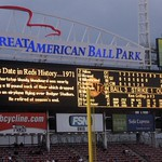 Cincinnati: Great American Ball Park - Scoreboard - This Date in Reds History