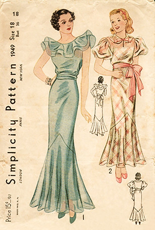 simplicity gown 1949