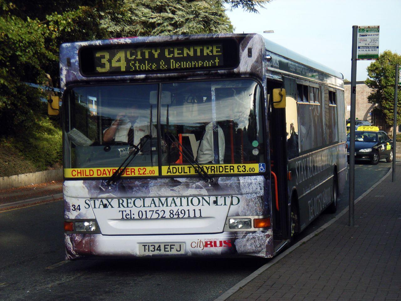 Plymouth Citybus 034 T134EFJ