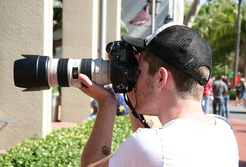 Brian with new telephoto lens