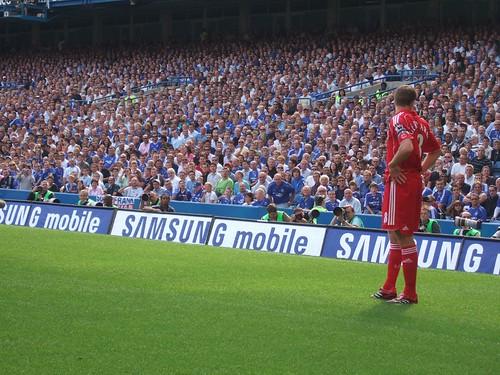 Steven Gerrard på Stamford Bridge