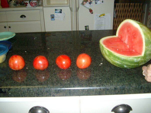 Watermelon Pac-Man With Tomato Power Pellets
