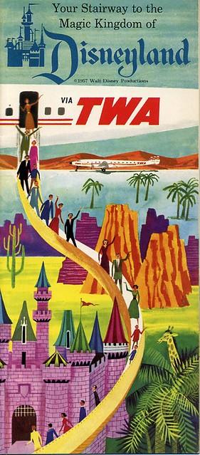 Disneyland TWA booklet