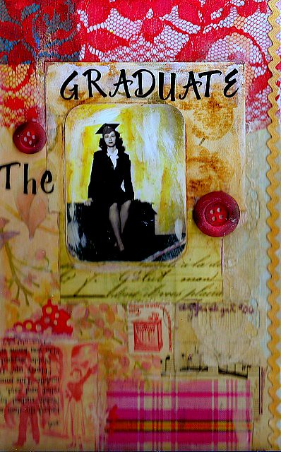 Photo Collage Book Cover : Quot the graduate collage on book cover by artjunkgrl
