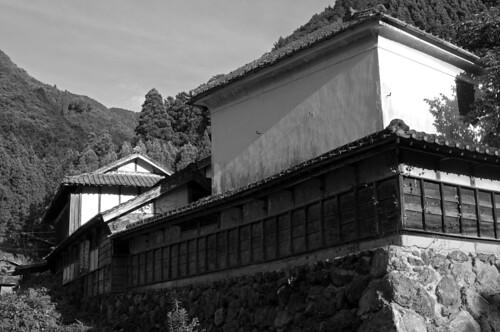 japan kyushu kumamoto yatsushiro sakamoto monochrome black white edo architecture