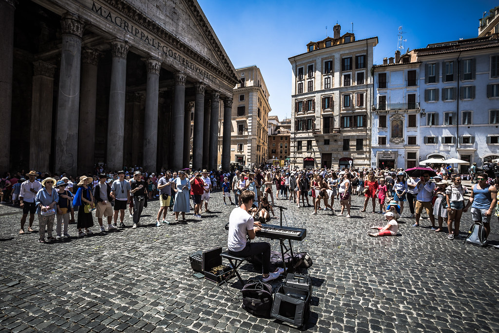 Singer in front of the Pantheon during the 2018 European Rally Championship ERC Rally di Roma Capitale,  from july 20 to 22 , at Fiuggi, Italia - Photo Thomas Fenetre / DPPI