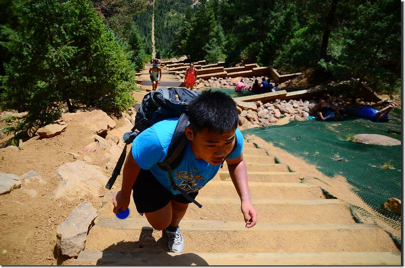 Jacob on his way up to the top of the incline (1)