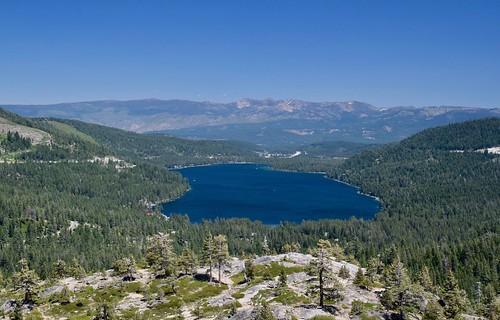 trees lake sierras california donnerlake highsierras mountains