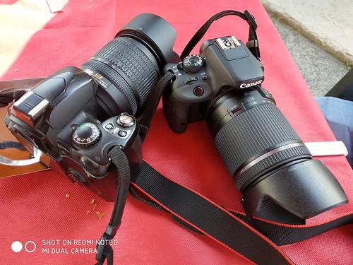 Nikon D40 & Canon EOS 100D