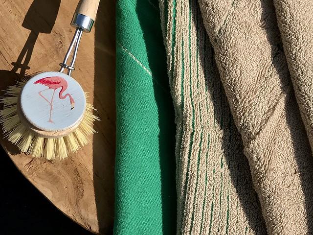 Tweedoek groen