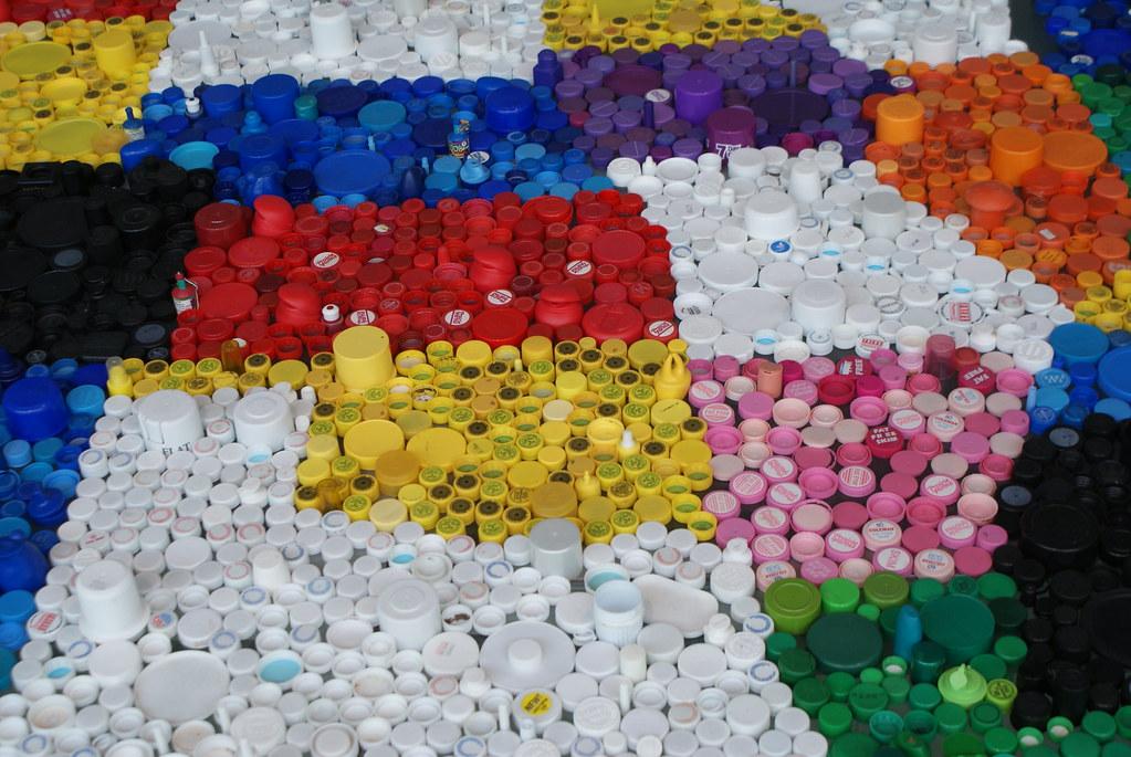 Une carte des Etats-Unis en capuchon en plastique.
