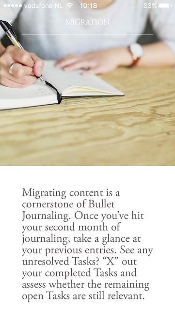 Schermafdruk app Bullet Journal Companion