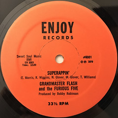 GRANDMASTER FLASH AND THE FURIOUS FIVE:SUPERRAPPIN'(LABEL SIDE-A)