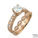 Engagement Rings : Engagement ring and wedding band by Yael Designs