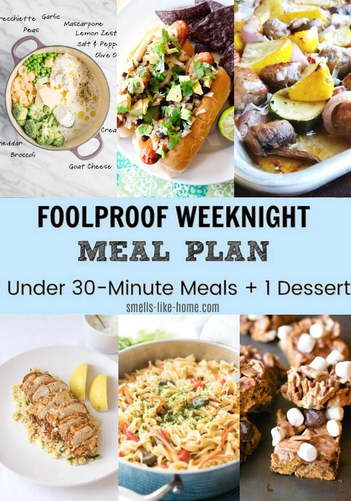 Foolproof Weeknight Meal Plan – Week 5