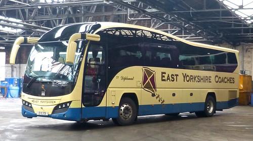 EYC 73 'East Yorkshire Motor Services' No. 77 'East Yorkshire Coaches'. Volvo B9R / Plaxton Elite on Dennis Basford's railsroadsrunways.blogspot.co.uk
