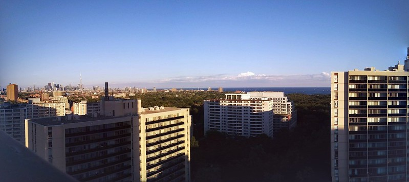 Skyline panorama (2) #toronto #mississauga #skyline #highparknorth #lakeontario #sky #blue