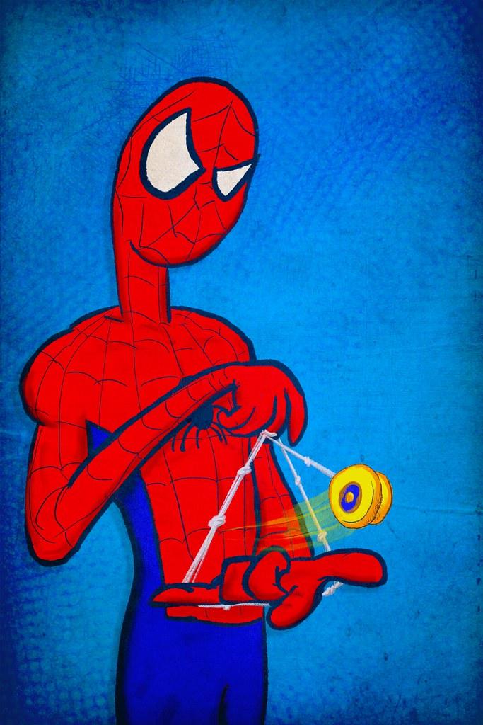 Spider-Man Yo-Yoing