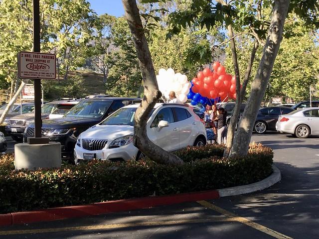 dilemma - a million ballons, one car