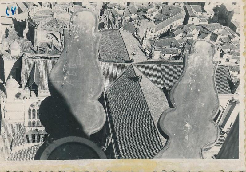 Vista desde la Torre de la Catedral en 1962. Fotografía de Julián C.T.