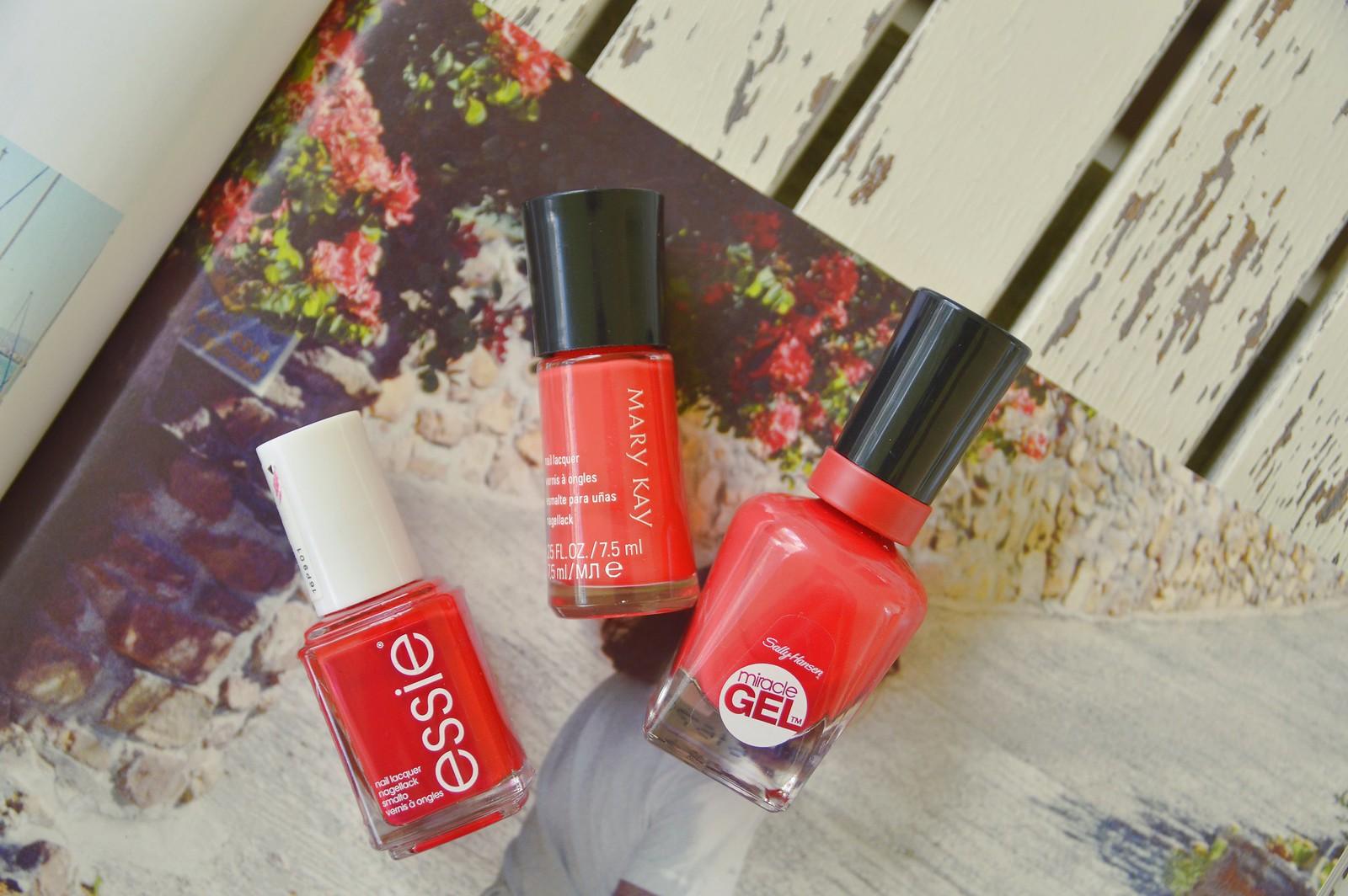 reds, ESSIE, SALLY HANSEN, MARY KAY 2