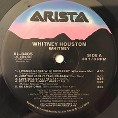 WHITNEY HOUSTON:WHITNEY(LABEL SIDE-A)
