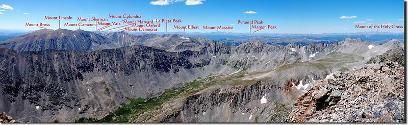 View to southwest from the summit of Quandary Peak (2)-1