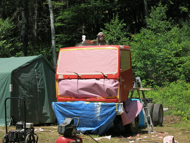 Painting the truck 011