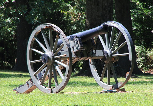 Civil War Cannon, Prairie Grove Battlefield State Park - Washington County, Arkansas