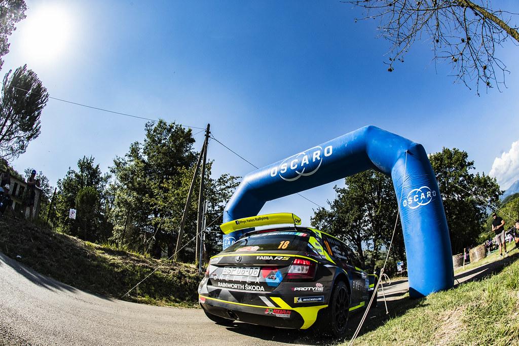 18 Rhys Yates (GBR), Elliot Edmonson (GBR), SKODA FABIA R5, during the 2018 European Rally Championship ERC Rally di Roma Capitale,  from july 20 to 22 , at Fiuggi, Italia - Photo Gregory Lenormand / DPPI