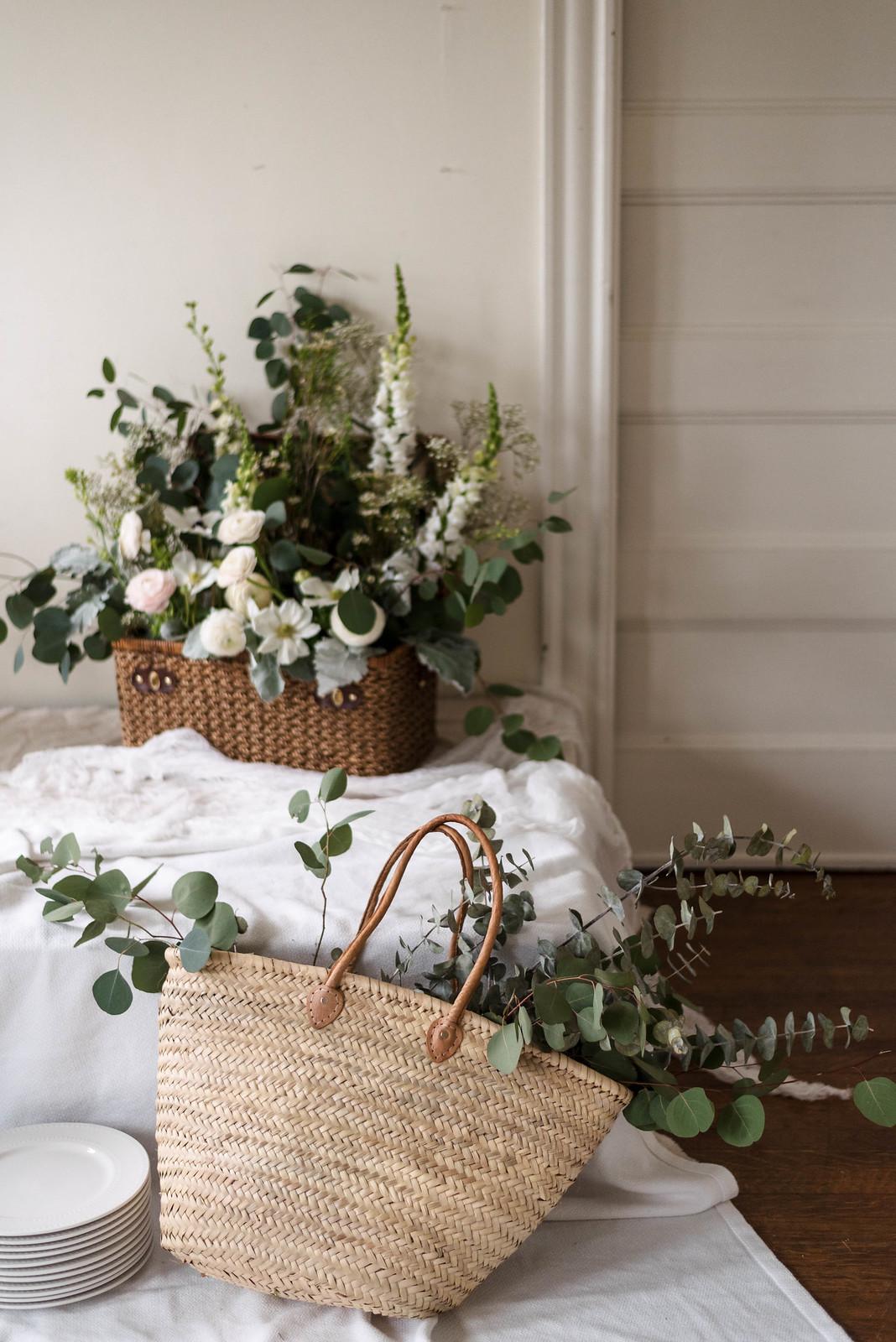 Market Bag Flowers on http://juliettelaura.blogspot.com/