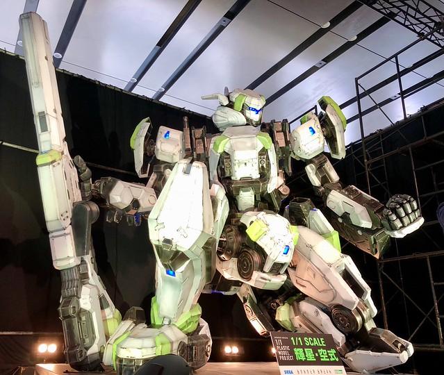 史上最巨大組裝模型終於亮相《BORDER BREAK 邊境保衛戰》「輝星・空式 1/1比例組裝模型」完成品展出!KOTOBUKIYA 1/1 PLASTIC MODEL PROJECT