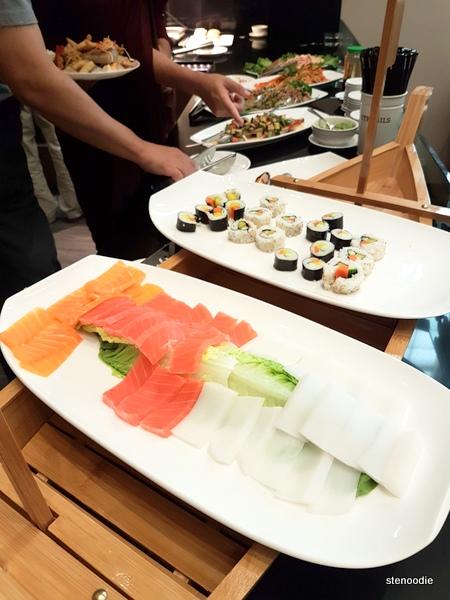 Vegetarian and vegan sushi and sashimi