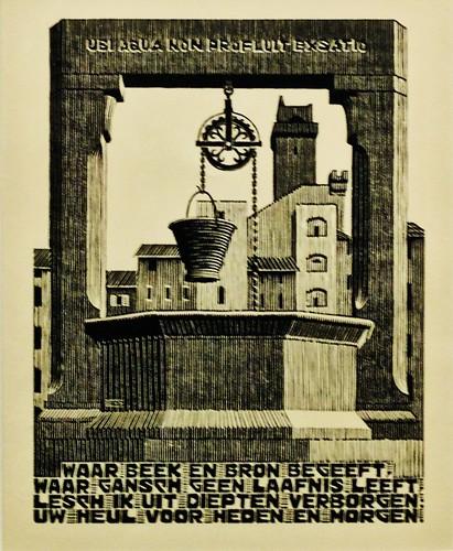XXIV EMBLEMATA/ XXI Well (1932) -  Maurits Cornelis Escher (1898 - 1972)