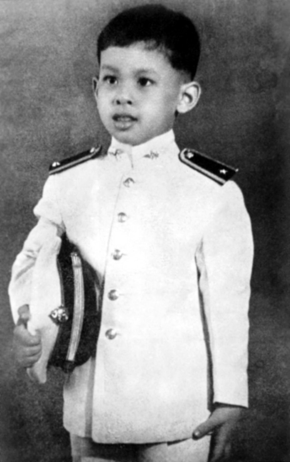 Prince Vajiralongkorn in 1957 / สมเด็จพระบรมโอรสาธิราชในช่วงปี ค.ศ. 1957