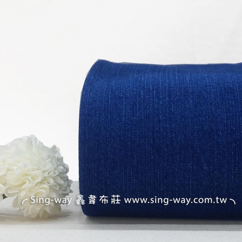 酵素洗藍色牛仔 素面簡約 無印 紳士 牛仔服裝布料 CE1290040