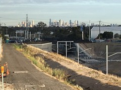 IMG_7434 Zoom view looking south behind Chemmart - Victrack access road at Campbellfield - #UpfieldBikePath