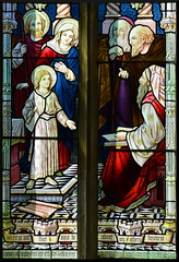 Mary and Joseph find the tyoung Christ teaching in the temple (1890s)