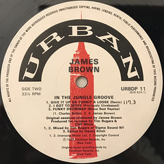 JAMES BROWN:IN THE JUNGLE GROOVE(LABEL SIDE-B)