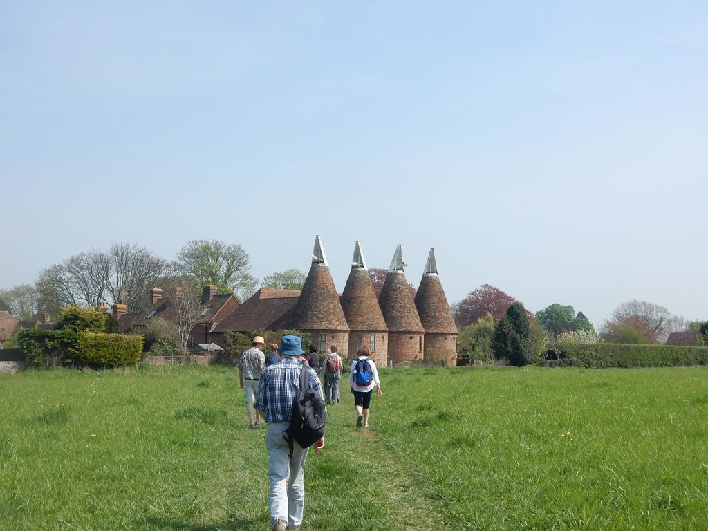 Oast houses Ickham, Bekesbourne to Sturry