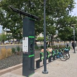 Bikeep Station. Bicycle parking at Library Square Salt Lake City