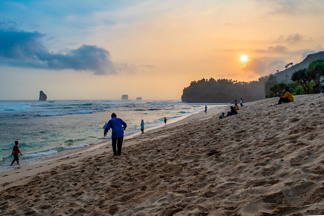 Sunset at Goa Cina Beach