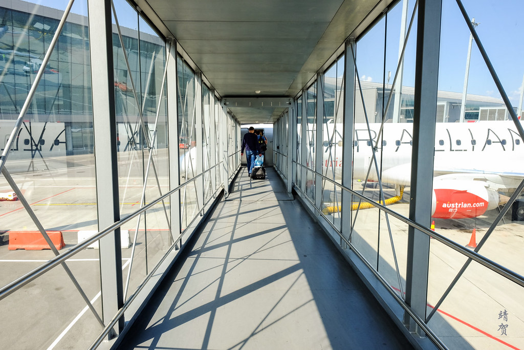 Walking the aerobridge