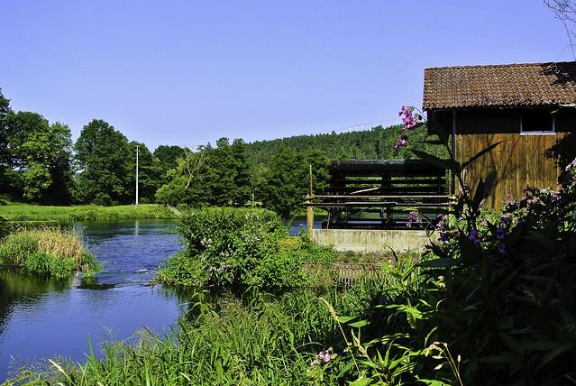 Old mill at river Regen - Alte Mühle am Regen
