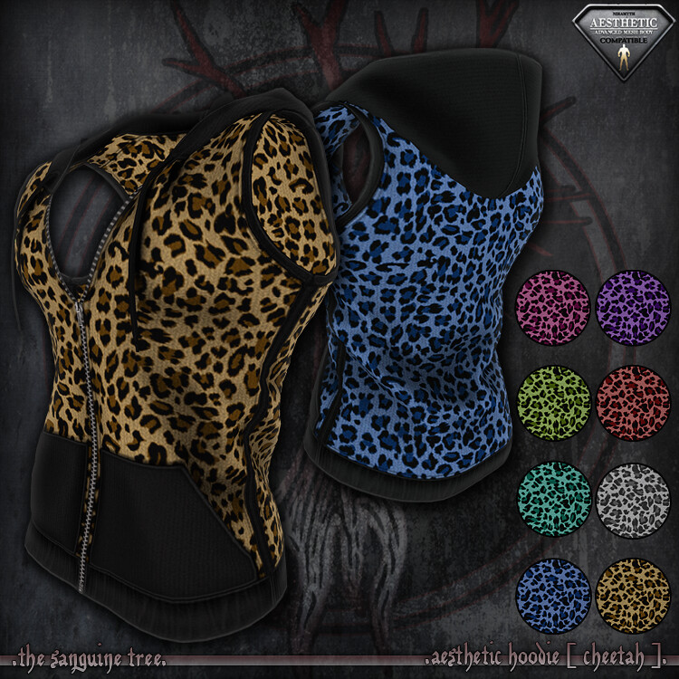 [ new release – aesthetic hoodie [ cheetah ]