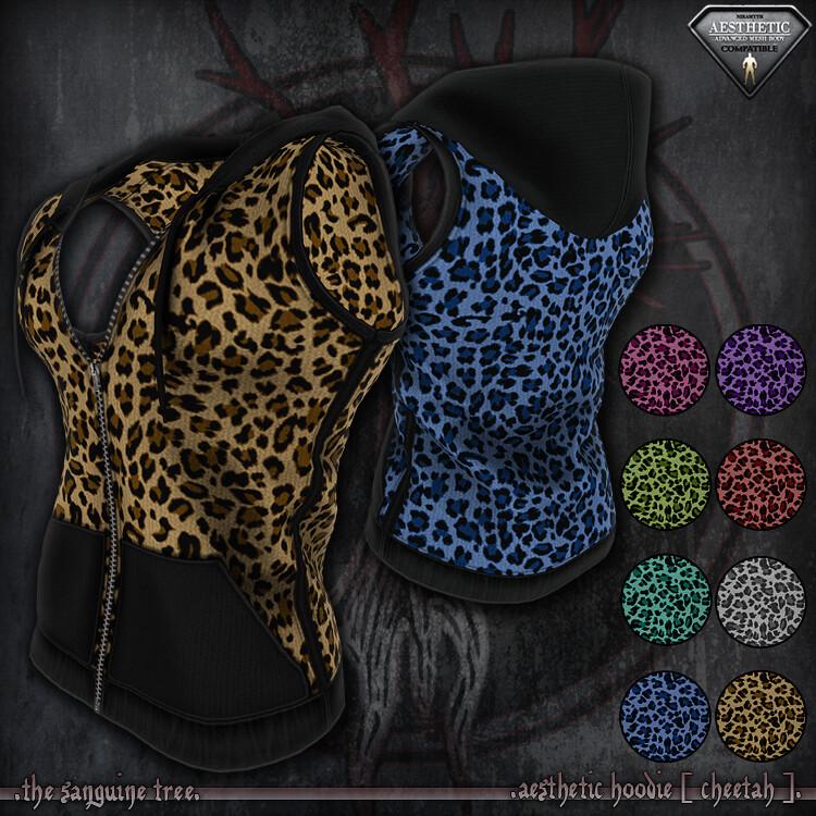 [ new release - aesthetic hoodie [ cheetah ] - TeleportHub.com Live!